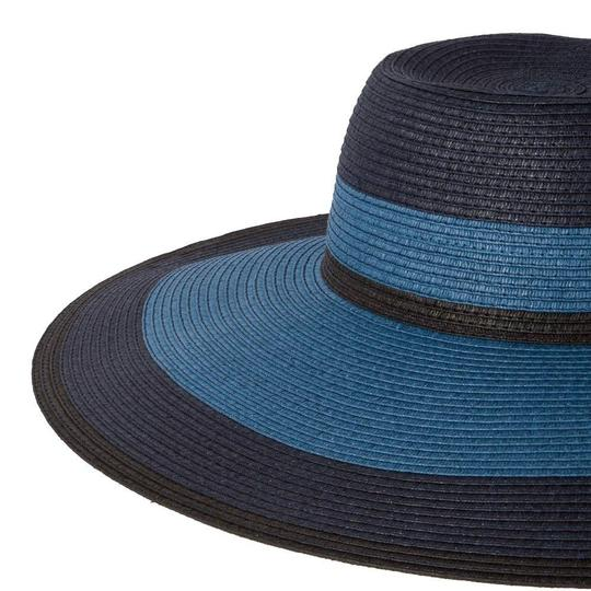 Paul Smith Paul Smith Women's Blue Jute Striped Hat made in Italy Image 1
