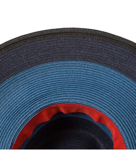 Paul Smith Paul Smith Women's Blue Jute Striped Hat made in Italy Image 2