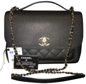Chanel Classic Cc Caviar Leather Cross Body Bag
