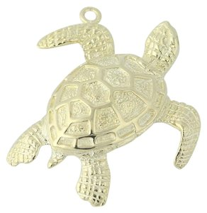 Other Turtle Pendant - 14k Yellow Gold Ocean Life Textured Finish N7561