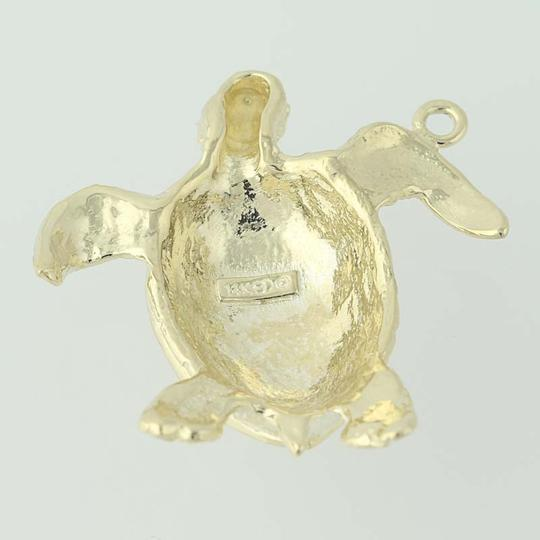 Other Turtle Pendant - 14k Yellow Gold Ocean Life Textured Finish N7561 Image 1