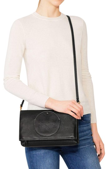 Tory Burch Convertible Perforated Logo Clutch Cross Body Bag Image 1