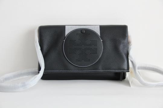 Tory Burch Convertible Perforated Logo Clutch Cross Body Bag Image 3