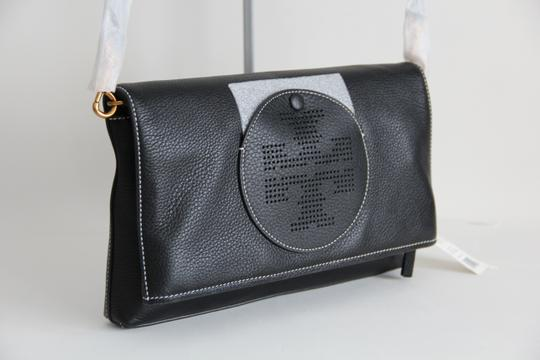 Tory Burch Convertible Perforated Logo Clutch Cross Body Bag Image 4