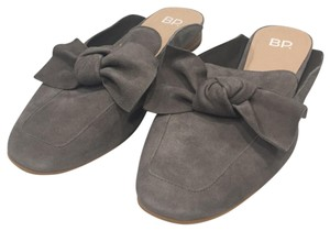 BP. Clothing Suede Gray Mules