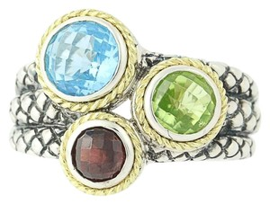 Andréa Candela NEW Candela Multi-Gemstone Pavo Real Ring - Sterling Silver N9672