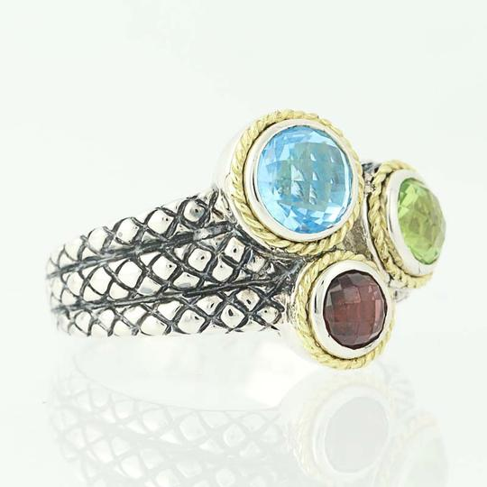 Andréa Candela NEW Candela Multi-Gemstone Pavo Real Ring - Sterling Silver N9672 Image 1