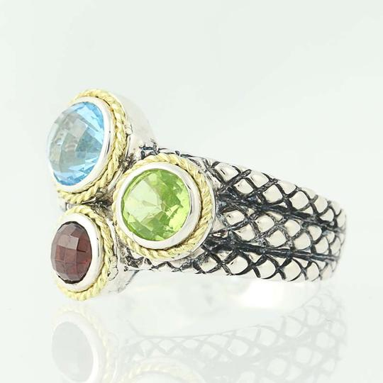Andréa Candela NEW Candela Multi-Gemstone Pavo Real Ring - Sterling Silver N9672 Image 2