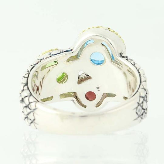 Andréa Candela NEW Candela Multi-Gemstone Pavo Real Ring - Sterling Silver N9672 Image 3