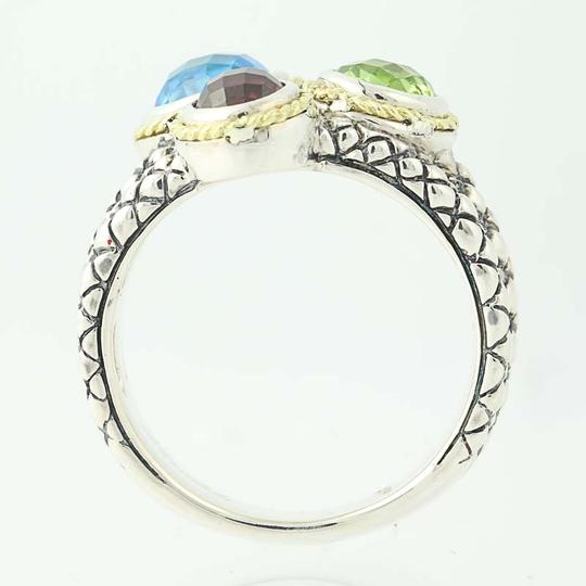 Andréa Candela NEW Candela Multi-Gemstone Pavo Real Ring - Sterling Silver N9672 Image 4