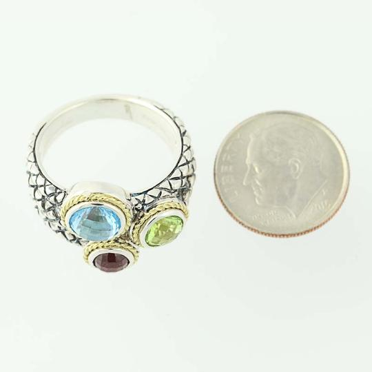 Andréa Candela NEW Candela Multi-Gemstone Pavo Real Ring - Sterling Silver N9672 Image 7