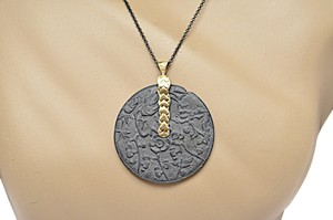 Page sargisson NY PAGE SARGISSON NY 'Charlotte' Oxidized Sterling Silver + Gold Necklace