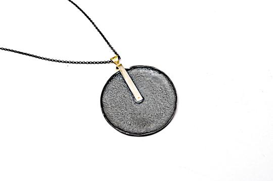 Page sargisson NY PAGE SARGISSON NY 'Charlotte' Oxidized Sterling Silver + Gold Necklace Image 1