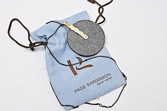 Page sargisson NY PAGE SARGISSON NY 'Charlotte' Oxidized Sterling Silver + Gold Necklace Image 5