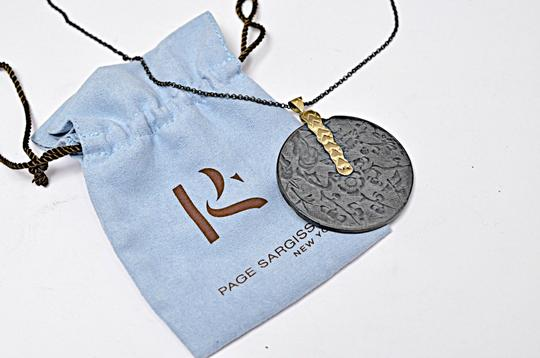 Page sargisson NY PAGE SARGISSON NY 'Charlotte' Oxidized Sterling Silver + Gold Necklace Image 7
