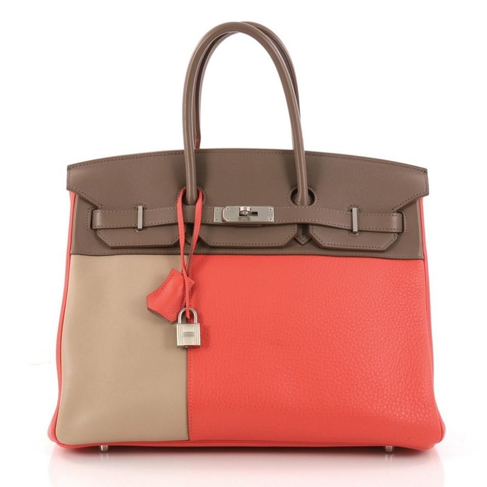 ac02b523b4 Hermès Birkin Handbag Tricolor Clemence and Swift with Brushed ...