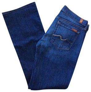 7 For All Mankind Stretch 29 X 32 Boot Cut Jeans-Medium Wash