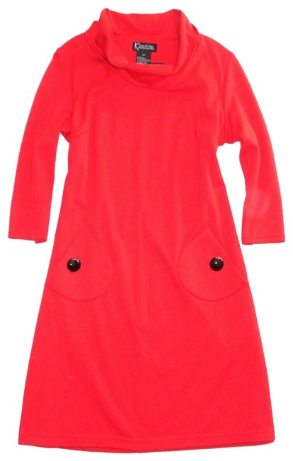 Preload https://img-static.tradesy.com/item/24278062/nordstrom-red-34-sleeve-cowl-neck-jersey-knit-pockets-buttons-12p-mid-length-short-casual-dress-size-0-3-650-650.jpg