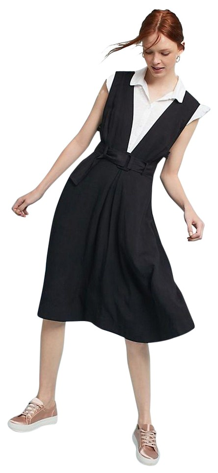 cfb22604899b Anthropologie Black Bryony Apron By Maeve Mid-length Casual Maxi ...