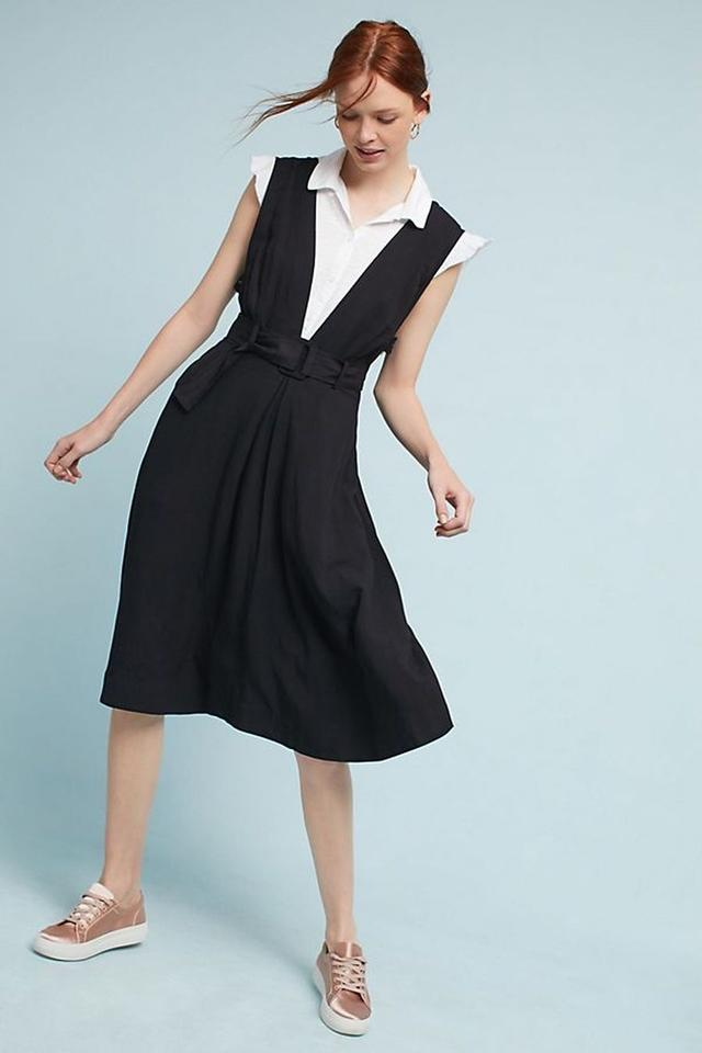 7764e157acf5a Anthropologie Black Bryony Apron By Maeve Mid-length Casual Maxi ...