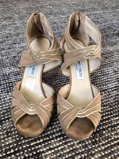 Jimmy Choo Beige / Tan with gold trim Formal Image 1