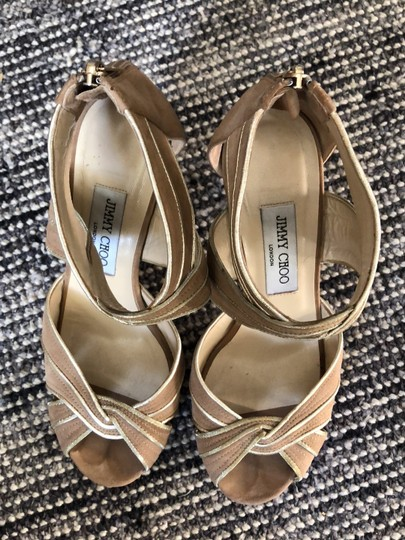 Jimmy Choo Beige / Tan with gold trim Formal Image 2