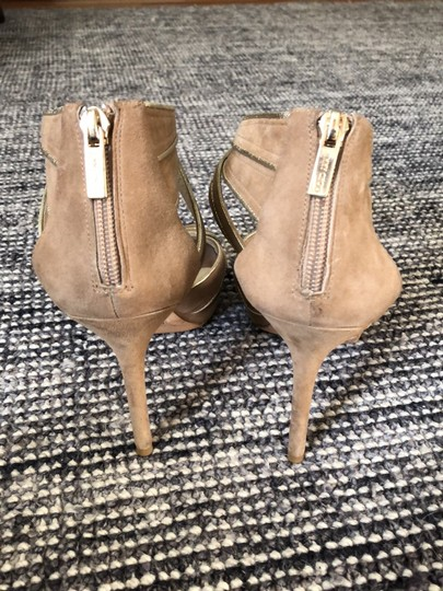 Jimmy Choo Beige / Tan with gold trim Formal Image 3