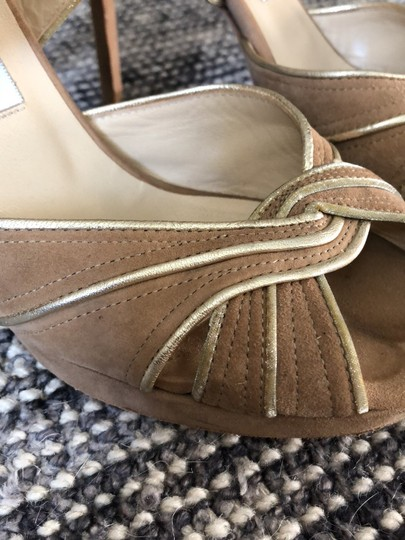 Jimmy Choo Beige / Tan with gold trim Formal Image 5