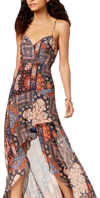 Item - Orange Spice Printed High-low Mid-length Casual Maxi Dress Size 0 (XS)