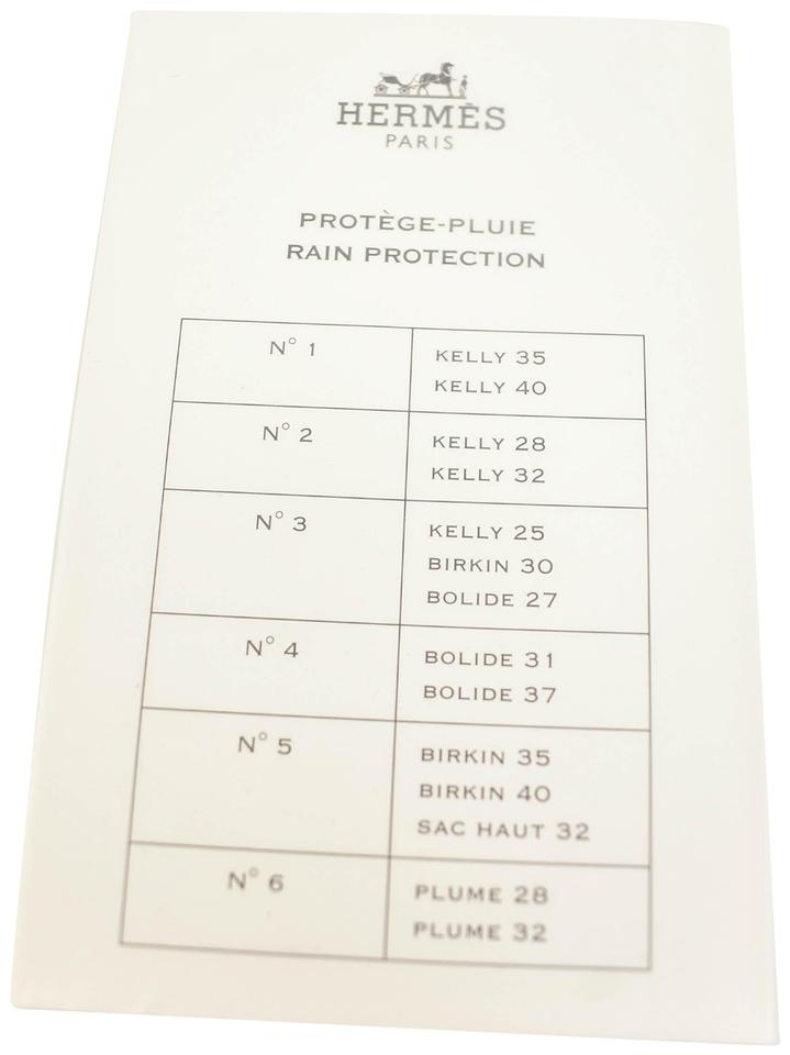 5ae95b1b5ead22 Hermès Kelly 35/40 Clear Large Bag Rain Protector - Set Of 2 - Tradesy
