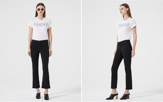AG Adriano Goldschmied Flare Cropped Skinny Jeans-Dark Rinse Image 5