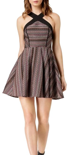 Preload https://img-static.tradesy.com/item/24278125/bcbgeneration-multi-color-combo-crisscross-jacquard-fit-and-flare-short-night-out-dress-size-0-xs-0-1-650-650.jpg