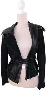 June Patent Leather Suede Moto Motorcycle Jacket