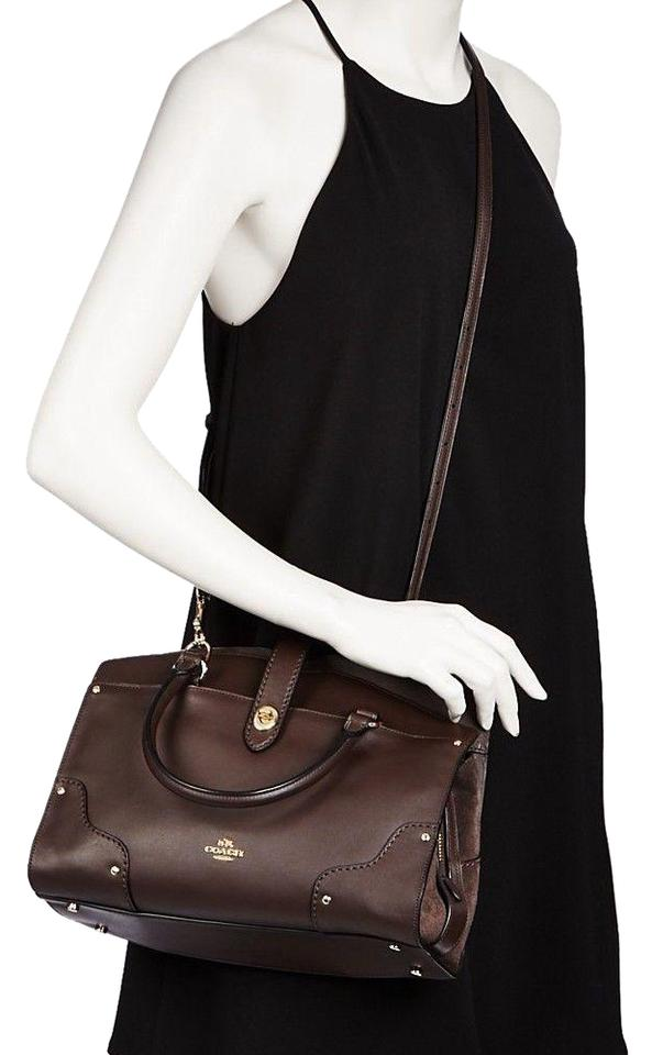 4890e4d39940 Coach Mercer Mixed In Chestnut/Gold Chestnut Leather Satchel - Tradesy