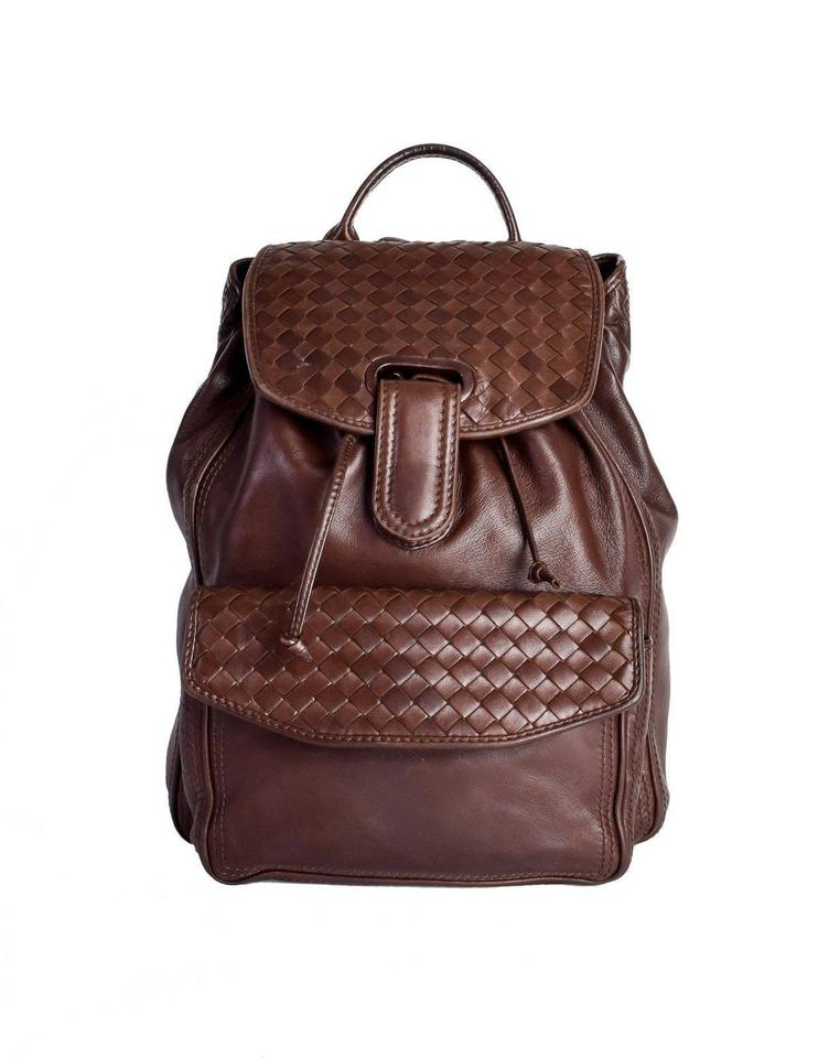 5dd611259a8b Bottega Veneta Intrecciato Brown Leather Backpack - Tradesy