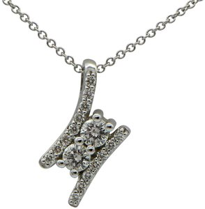 Sea Wave Diamonds Two Diamond and Pave Pendant
