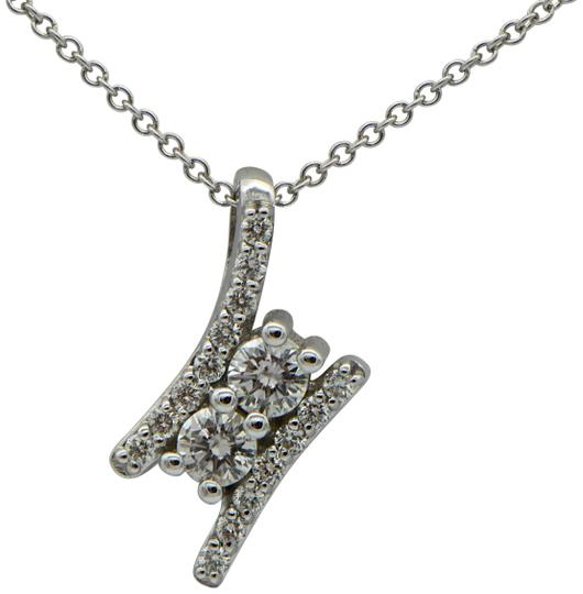 Preload https://img-static.tradesy.com/item/24278303/diamond-and-white-gold-two-pendant-necklace-0-3-540-540.jpg