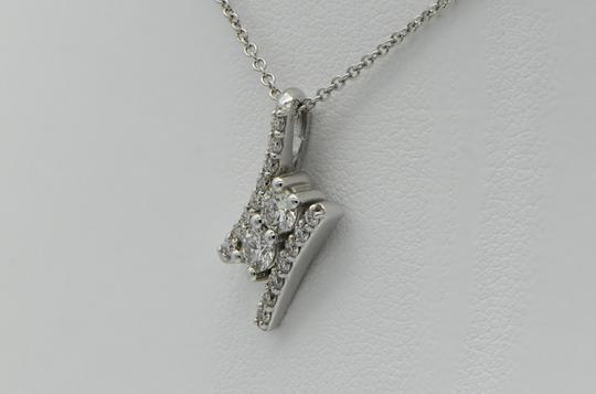 Sea Wave Diamonds Two Diamond and Pave Pendant Image 1