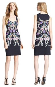 ROBERTO CAVALLI Multicolor Print Square Neck 38 Dress