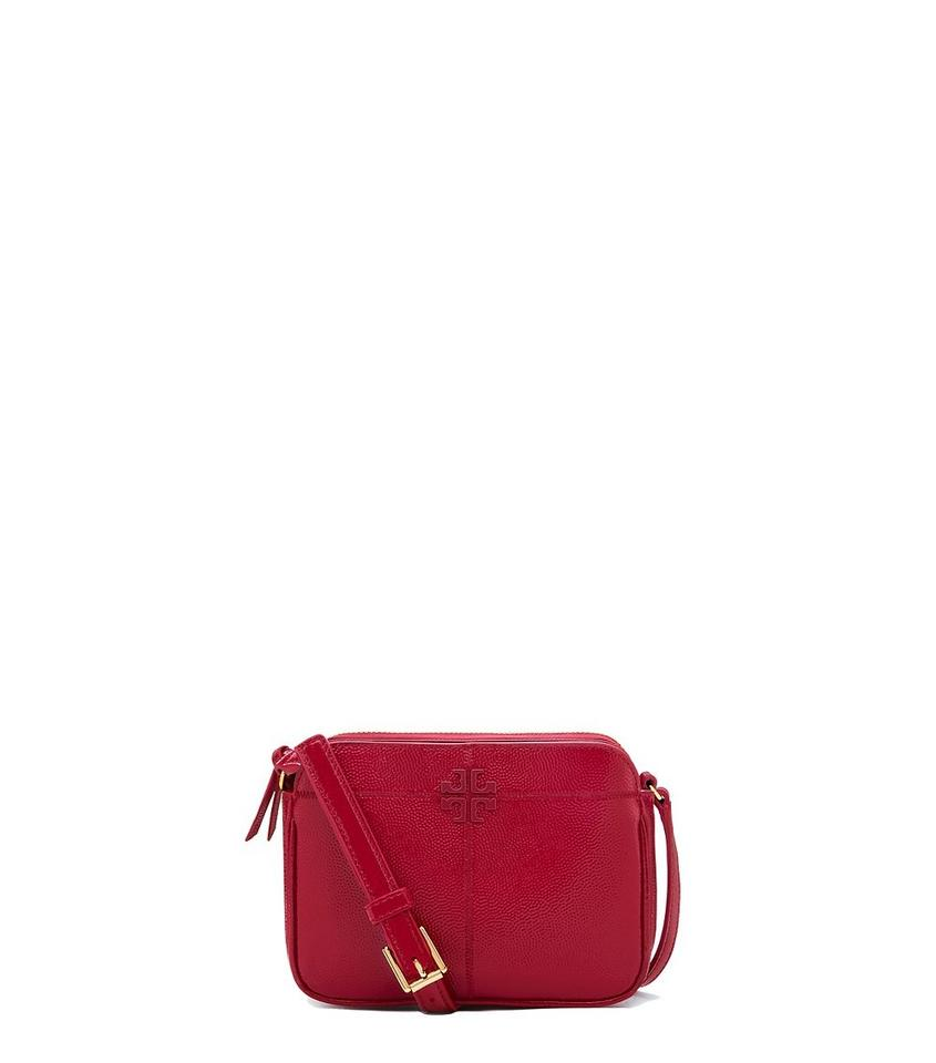 f34cd2aa729 Tory Burch Ivy Micro Style  32217 Scarlet Patent Leather Cross Body ...