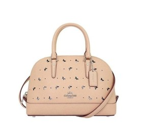 Coach 59346 Mini Sierra Perforated Mini Sierra Satchel in beige