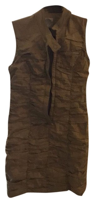 Item - Army Green Sleeveless Short Night Out Dress Size 6 (S)