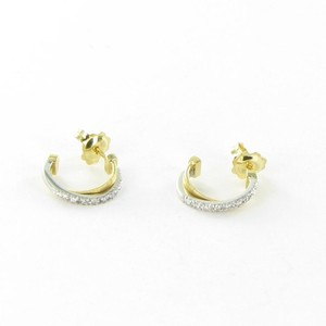 Marco Bicego Goa Small Hoop Drop Earrings Diamond 0.14cts 18k Yellow and White Gold