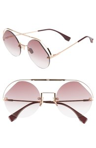 a0c012d9de7d8 Fendi Rose Gold New 0325 S Ribbons and Pearls Round Cutout Pink Sunglasses