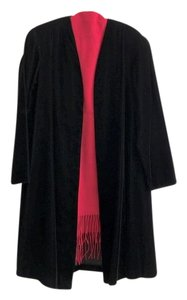 Alex Evenings Cocktail Overcoat Wedding Mother Of The Bride Holiday Party Top Black