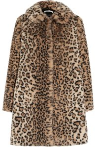 Alice + Olivia Oversized Winter Animal Print Fur Coat