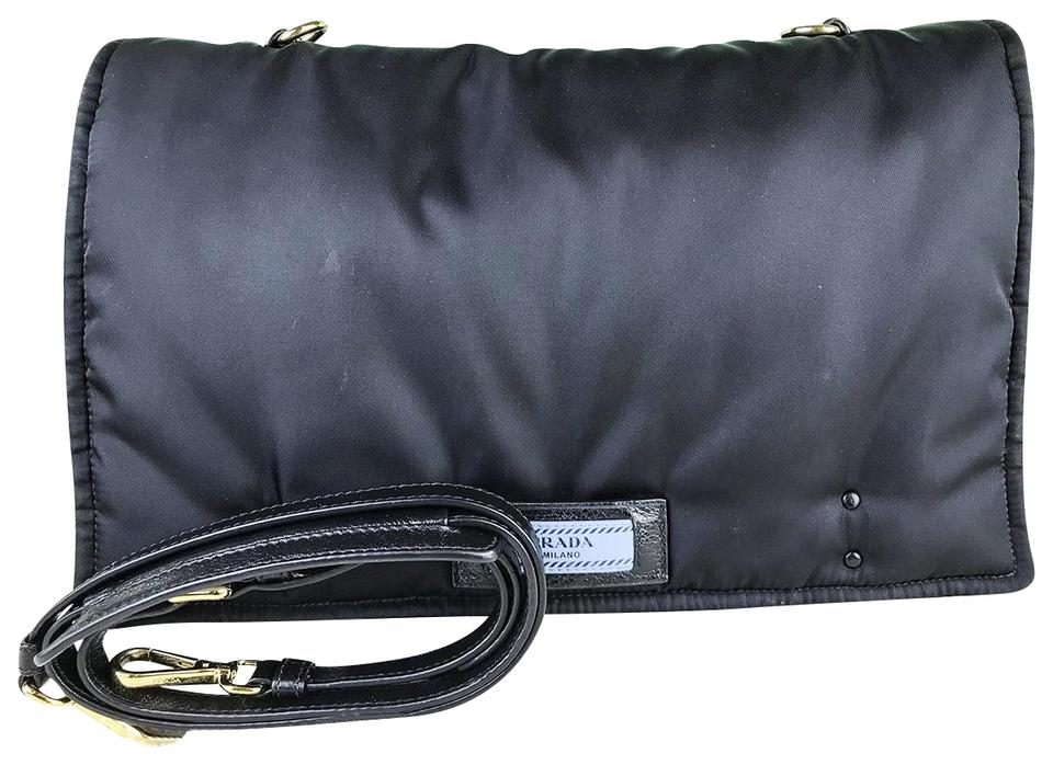e4de7bb7cf6ff8 Prada Etiquette Crossbody Flap Women's Sale Black Nylon Messenger ...