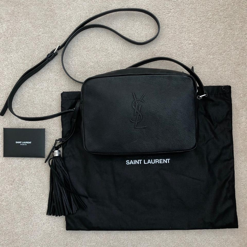a2f7246ea3 Saint Laurent Lou Camera In Smooth Black Lambskin Leather Cross Body Bag 4%  off retail