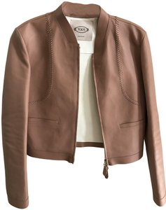 Tod's Beige/light brown Leather Jacket