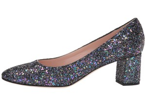 Kate Spade Glitter Formal Chunky Black Pumps